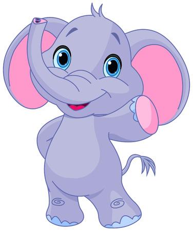 Illustration pour Illustration of very cute elephant - image libre de droit