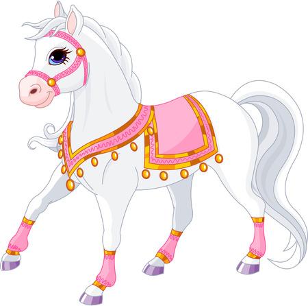 Illustration pour Illustration of beautiful white royal horse - image libre de droit