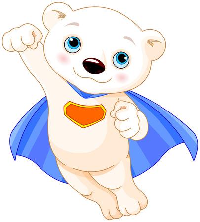Illustration pour Illustration of Super Hero Polar Bear - image libre de droit