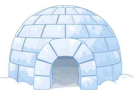 Illustration pour Illustration of an igloo - image libre de droit