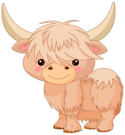 Illustration of cute yak