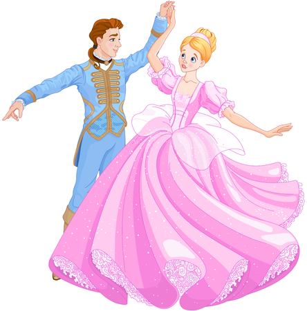 Illustration for The royal ball dance - Royalty Free Image