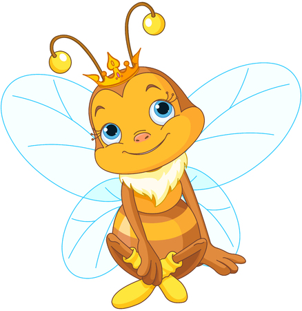 Illustration for Illustration of a cute queen bee - Royalty Free Image