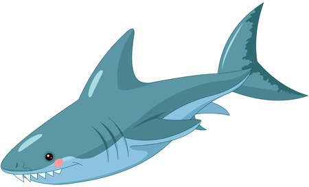Ilustración de Illustration of cute shark. - Imagen libre de derechos
