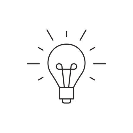 Illustration pour Idea icon outline lamp illustration vector isolated on white background - image libre de droit