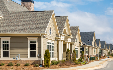 Photo for New Row Houses on street - Royalty Free Image