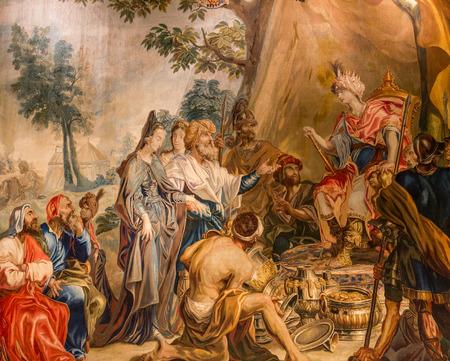 Foto de Ancient Tapestry Hanging in England - Imagen libre de derechos