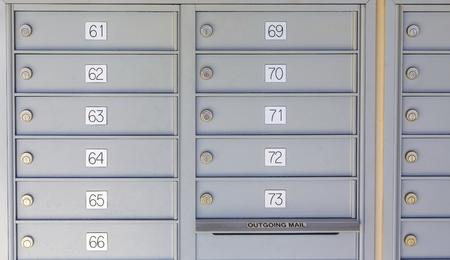 Foto de Private Mailboxes in Kiosk - Imagen libre de derechos