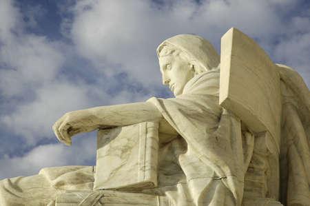 Statue at United States Supreme Court in Washington, DC.