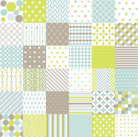 Illustration pour Seamless Patterns - image libre de droit