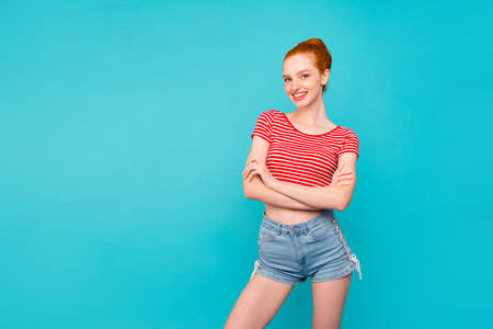 Photo for Nice cute adorable attractive cheerful girlish stylish trendy re - Royalty Free Image