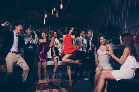 Photo pour Beautiful diverse charming stylish winsome exquisite elegant  group of people - image libre de droit