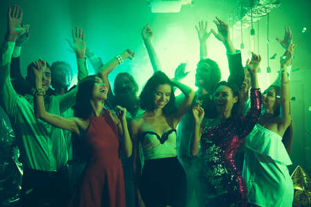 Photo pour Welcome to the best night party Sequins fall on careless - image libre de droit