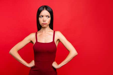 Photo pour Portrait of woman with expression. - image libre de droit