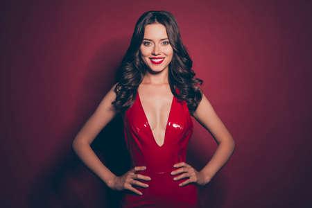 Photo pour Beautiful chic. elegant fancy brunette with modern hairstyle - image libre de droit