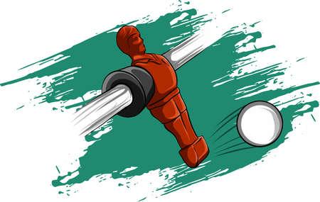 Ilustración de vector illustration red player Table Football Competition - Imagen libre de derechos