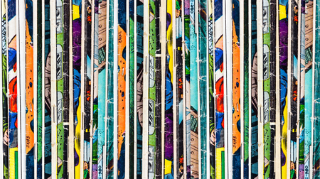 Photo for Stack of old vintage comic books - Royalty Free Image