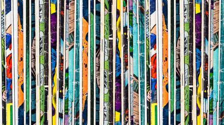 Photo pour Stack of old vintage comic books - image libre de droit