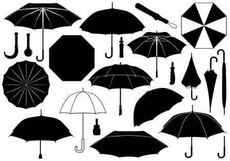 Ilustración de Set of different umbrellas - Imagen libre de derechos