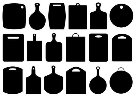 Illustration pour Set of kitchen cutting boards isolated on white - image libre de droit