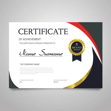 Illustration pour Certificate template horizontal elegant document. - image libre de droit