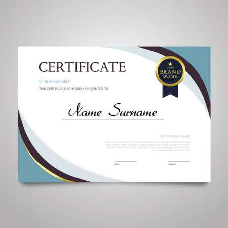 Illustration pour Certificate - horizontal elegant vector document - image libre de droit