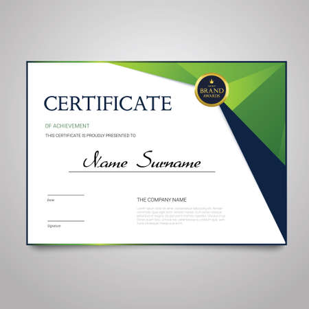 Illustration pour Certificate - horizontal elegant vector document - image libre de droit