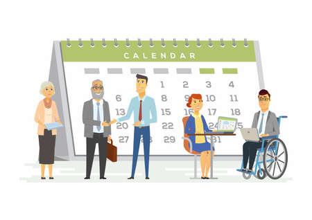 Ilustración de Teamwork for business metaphor - modern cartoon people characters illustration - Imagen libre de derechos