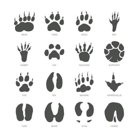 Ilustración de Animal trails. - Imagen libre de derechos