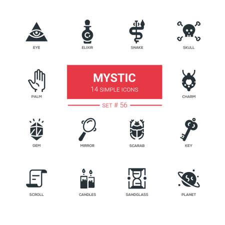 Photo pour Culture theme, mystic - line design icons set - image libre de droit