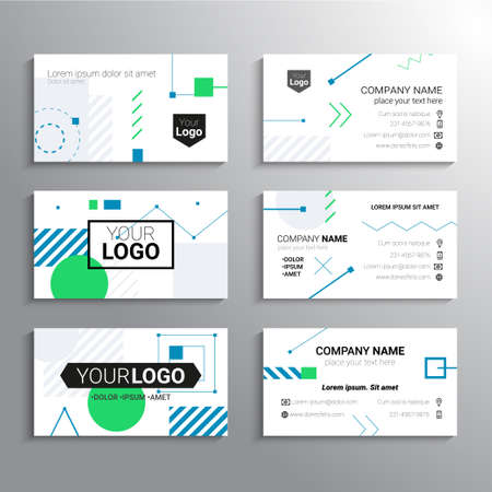 Photo pour Set of business cards - vector template abstract background - image libre de droit