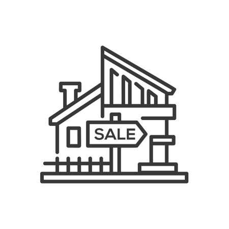 Illustration pour House for sale icon. - image libre de droit