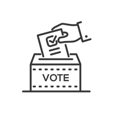 Illustration pour Ballot box icon. - image libre de droit