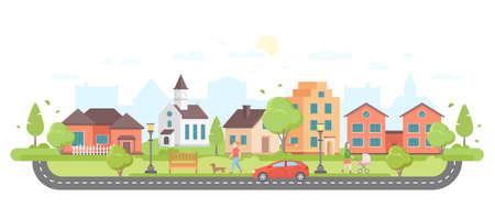 Illustration pour Modern city illustration. - image libre de droit