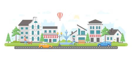 Illustration pour City life - modern flat design style  illustration. - image libre de droit