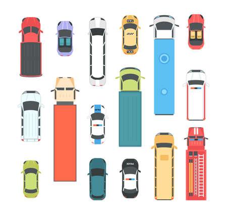Photo pour Vehicles - set of modern vector city elements - image libre de droit