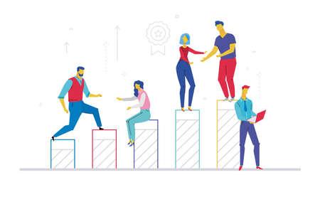 Ilustración de Team helping hand image illustration - Imagen libre de derechos