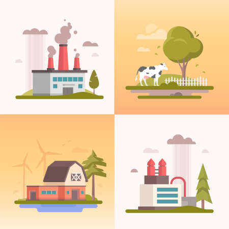 Illustration pour Ecology building design image illustration - image libre de droit