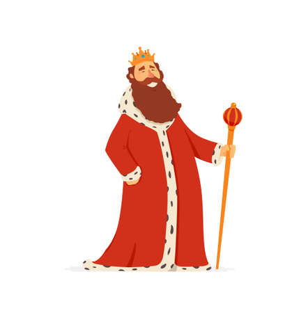 Illustration for King - modern vector cartoon people characters illustration - Royalty Free Image
