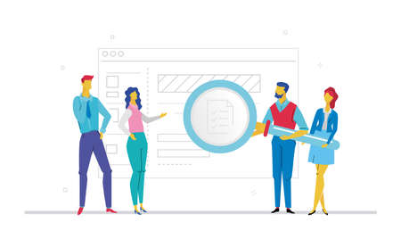 Ilustración de Business planning flat design style colorful illustration - Imagen libre de derechos