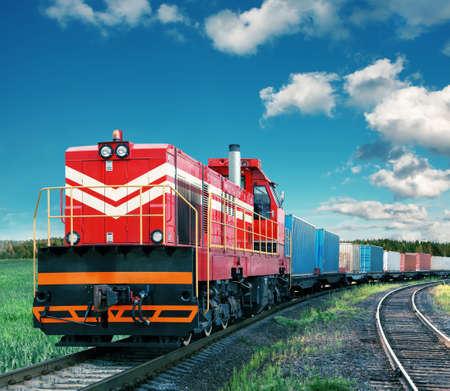 Photo for freight train - Royalty Free Image