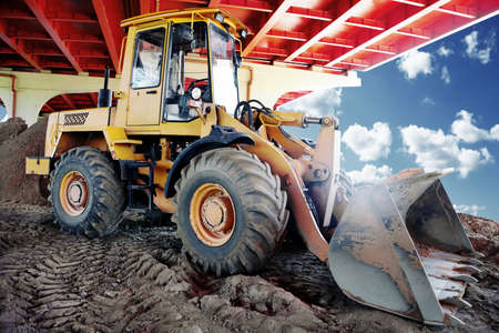 Photo for bulldozer on a construction site - Royalty Free Image