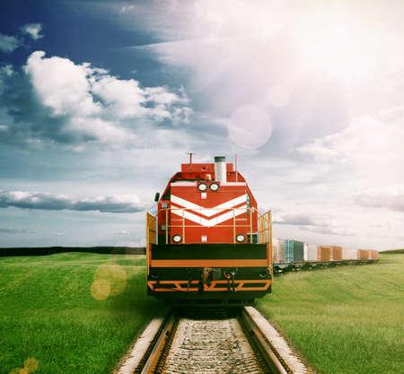 Photo pour freight train - image libre de droit