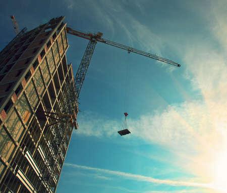 Photo pour tower crane - image libre de droit
