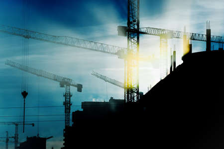 Photo for construction cranes - Royalty Free Image