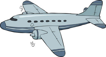 An airplane on a white background vector illustration