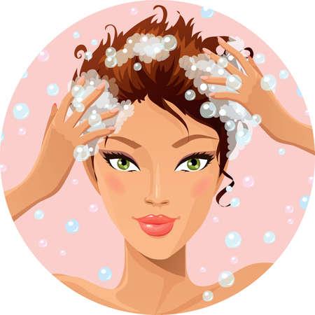 Ilustración de Hair wash - Imagen libre de derechos