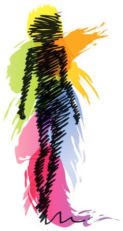 Ilustración de Fashion model silhouette - Imagen libre de derechos