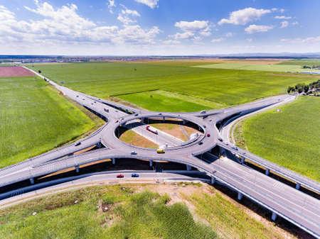 Foto de Roundabout aerial view - Imagen libre de derechos