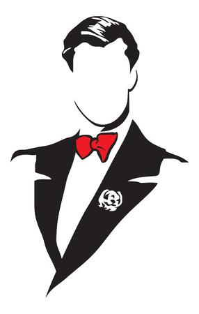 Illustrazione per Elegant men's suits. Vector image for logo and illustrations. - Immagini Royalty Free